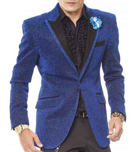 Mens Celebratory Sparkling Fabric