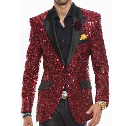 Fashion Satin Peak Lapel