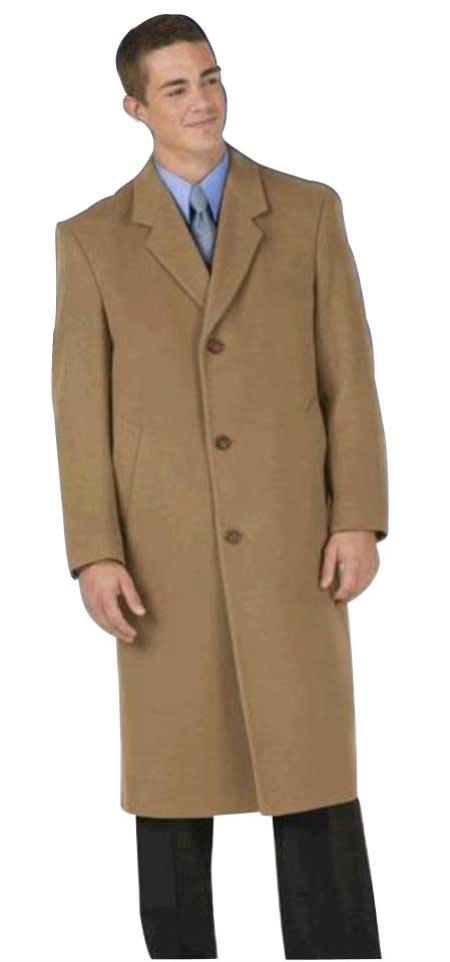 Long Wool Winter Dress Knee length Coat EMILCT03 Sentry8811 45inch single breasted classic model Mens Dress Coat features button through front, notch lapel