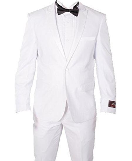 1 Button White Slim