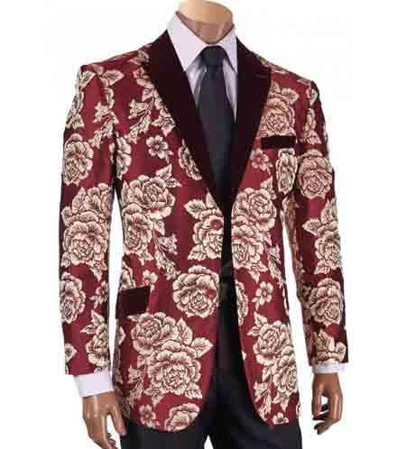 Floral Patterned Jacquard Velvet