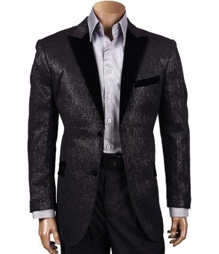 Wool Black Single Breasted