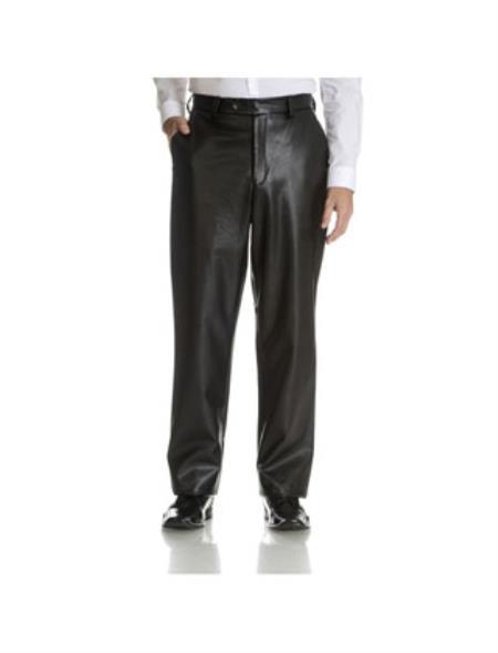 Vegan Black Leather Pant