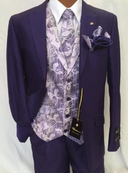Mens Purple Party Fashion