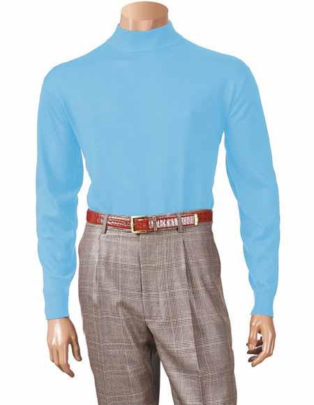 Blue Acrylic Sweater Style
