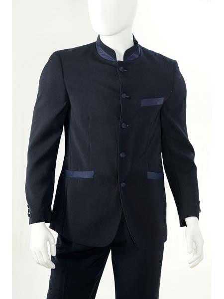 5 Button Navy Blue