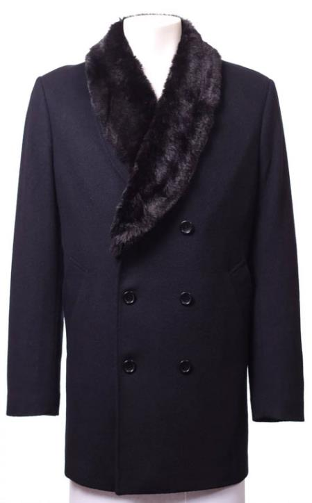 Wool Suit Collar Double