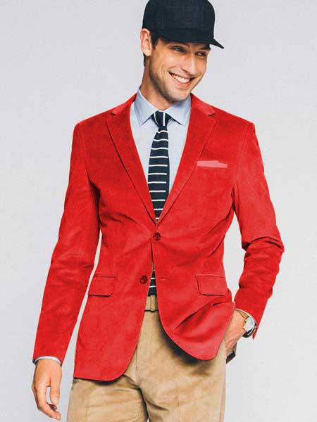 Mens Red Slim Fit