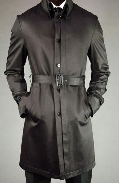 Belted Black Car coat
