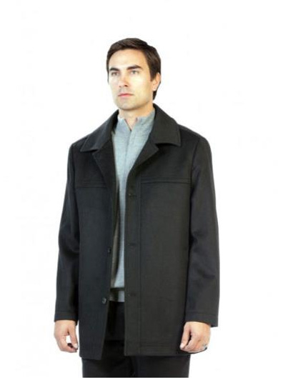 Charcoal Pea Coat Outerwear