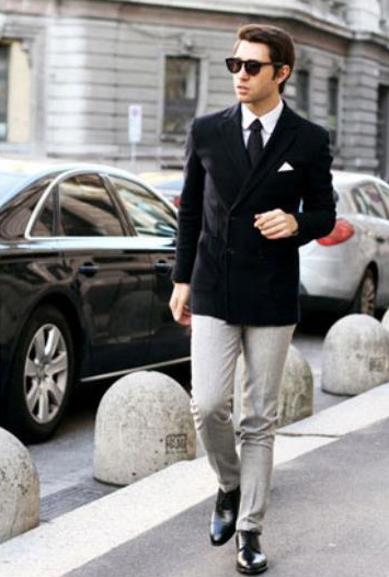 Black Stylish Casual Tailored