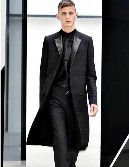 Black Notch Lapel Wool/Polyester