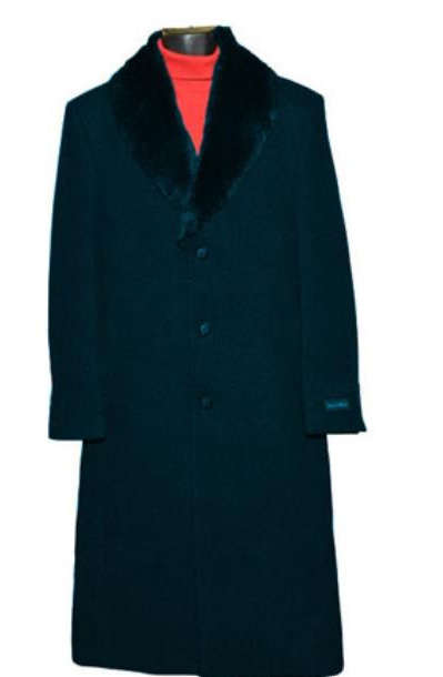 Dark Navy Fur Collar