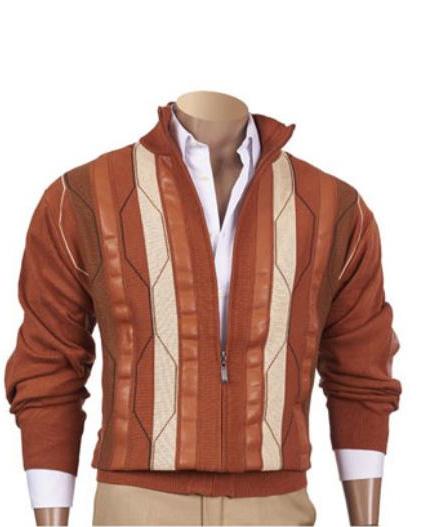 Mens Copper Stripe Fancy