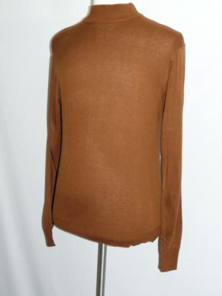 Brown INSERCH Mock Neck