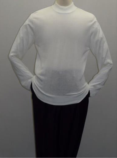 White INSERCH Mock Neck