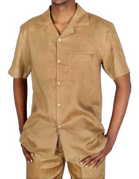 5 Button Linen Solid