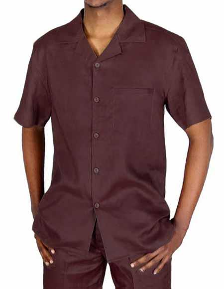 Brown Mens 5 Button