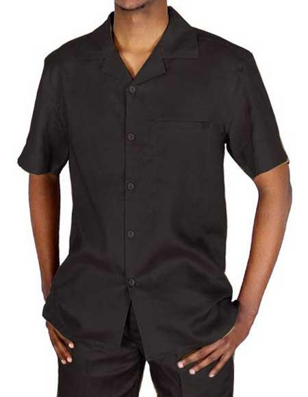 Collared Short Sleeve Black
