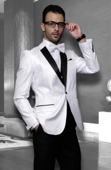 White Sport coat Black