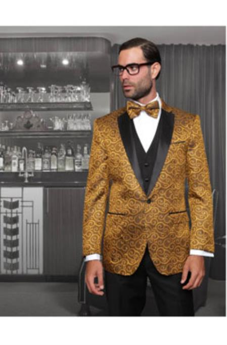 Gold Sport coat Black