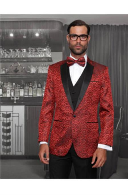 Red Sport coat Black