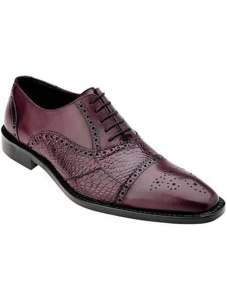 Mens Alligator Italian Calfskin