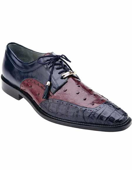 Mens Navy/Wine Two Toned