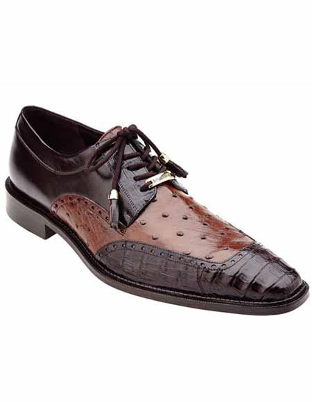 Mens Brown/Tabac Hand Painted
