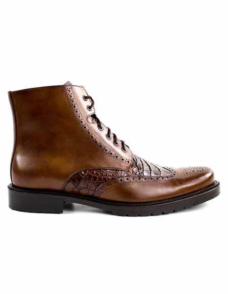 Mens Italian Antique Laceup