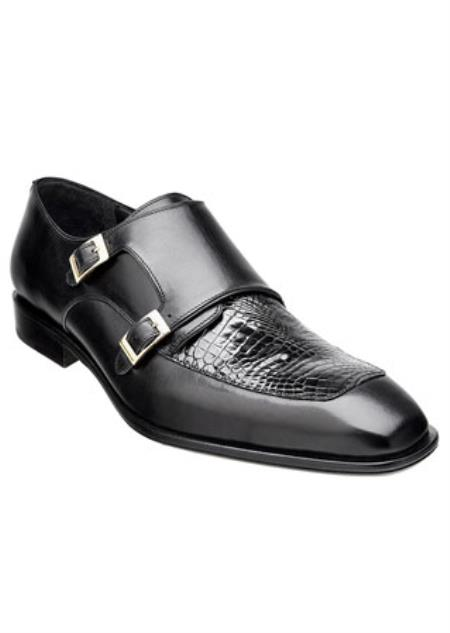 Mens Black Alligator Skin