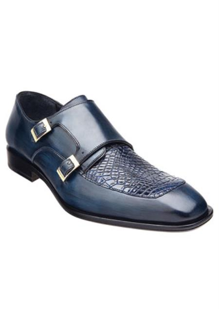 Mens Blue Alligator Skin
