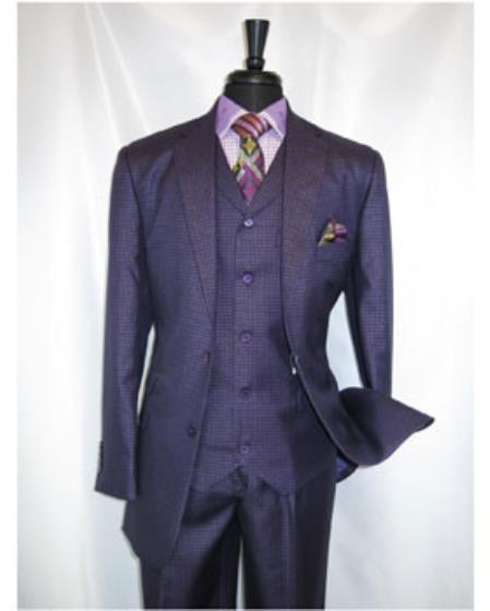 Grape HoundsTooth Two Button