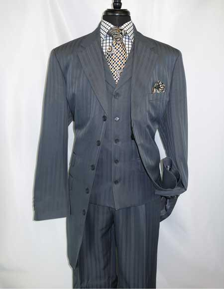 Notch Lapel Grey Steel