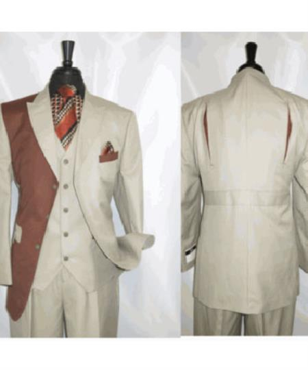 Tan Rust Vested Jacket