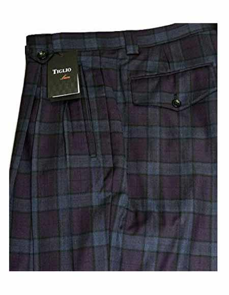 Italian Mens Double Pleated