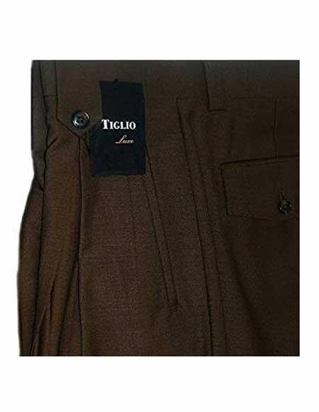 Mens 100% Wool Brown
