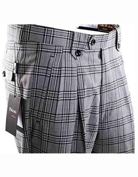 Mens Plaid Design Italian