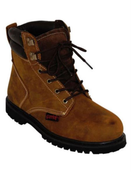 WAXY Lace-Up Steel Toe