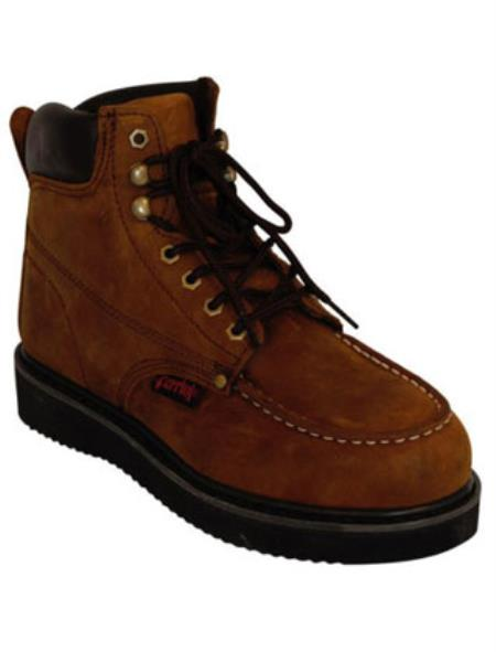 Rugged Steel Toe Lace-up