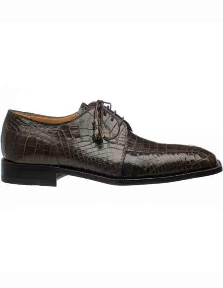 Mens Olive Genuine Alligator