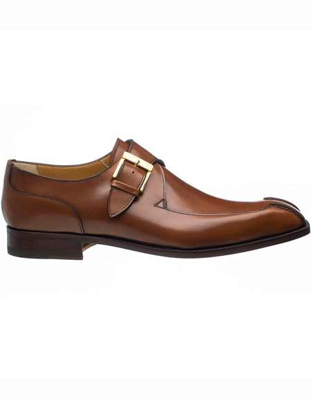 Mens Brown French Calfskin