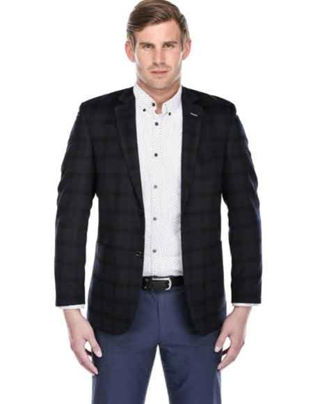 Mens Slim Fit Navy