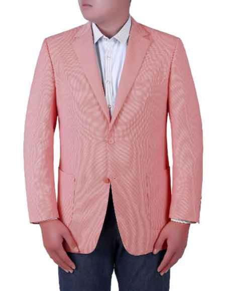 Mens Pink Birdseye Textured