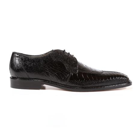 Siena Ostrich Black Oxfords