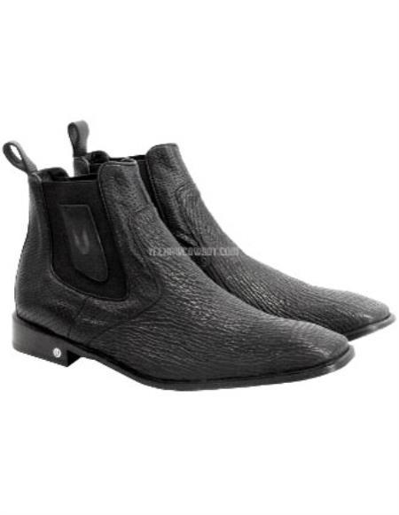 Black Full Leather Vestigium