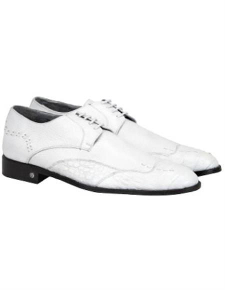 White Full Leather Vestigium