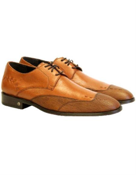 Mens Cognac Genuine