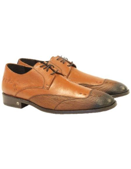 Mens Faded Cognac Genuine