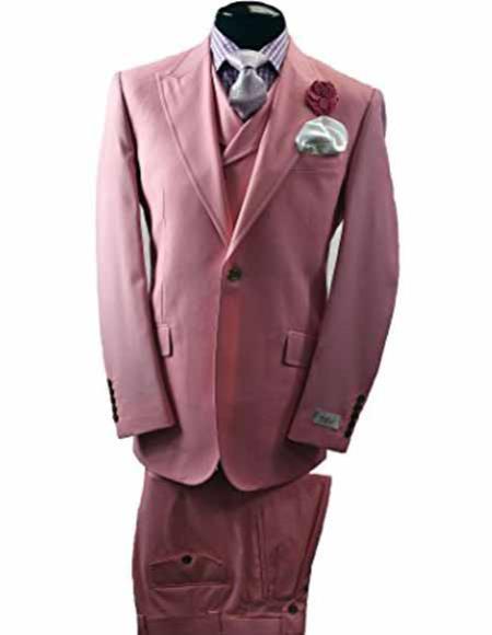 Mens Italian Wool Pink